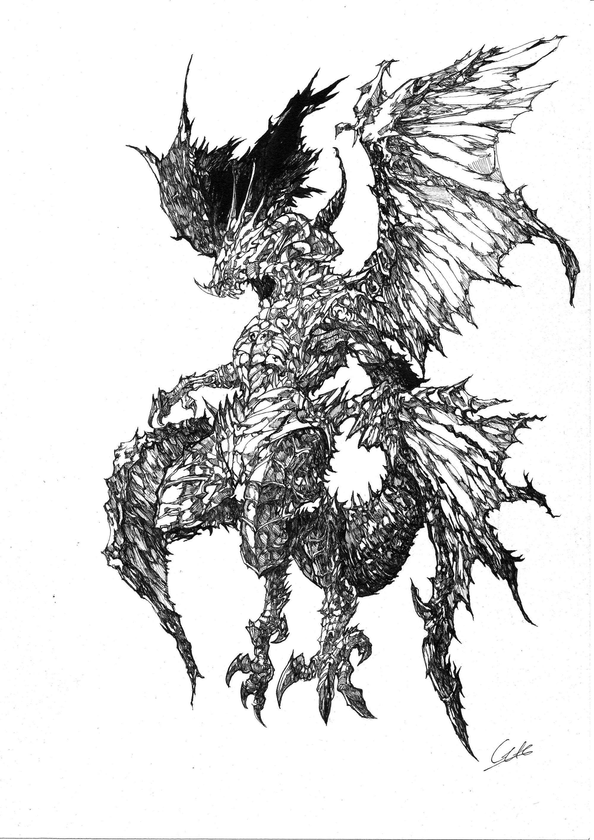 細密ドラゴン」 gaiさん   創作sns galleria[ギャレリア]